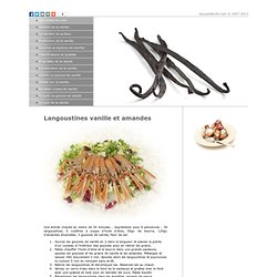 Recettes à base de vanille - GousseVanille.com