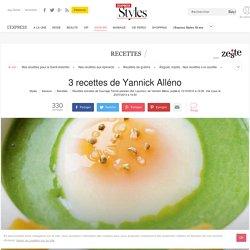 3 recettes de Yannick Alléno