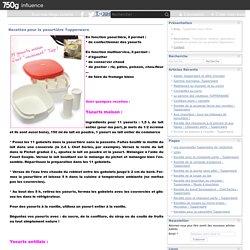 Recettes pour la yaourtière Tupperware