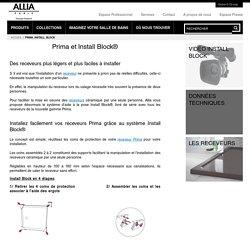 Receveurs Prima en céramique et l innovation Install Block - ALLIA innove pour vous depuis 1892