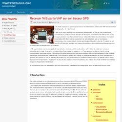 Recevoir l'AIS par la VHF sur son traceur GPS