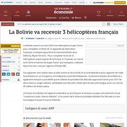 La Bolivie va recevoir 3 hélicoptères français