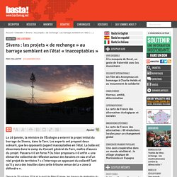Sivens : les projets « de rechange » au barrage semblent en l'état « inacceptables