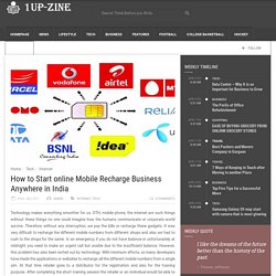 How to Start online Mobile Recharge Business Anywhere in India