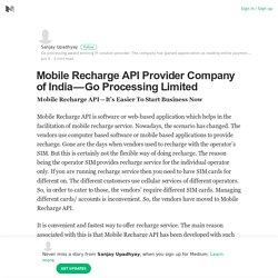 Mobile Recharge API Provider Company of India — Go Processing Limited
