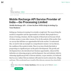 Mobile Recharge API Service Provider of India — Go Processing Limited