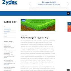 Water Recharge The Zytonic Way – Zydex Industries