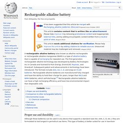 Rechargeable alkaline battery