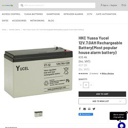 HKC Yuasa Yucel 12V.7.0AH Rechargeable Battery(Most popular house alarm battery) - Security Direct