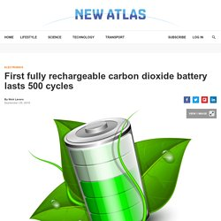 First fully rechargeable carbon dioxide battery lasts 500 cycles