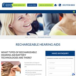 Hearing Check, Hearing Test, Tinnitus Test, Hearing Aid Fitting & Rechargeable Hearing Aid Melbourne