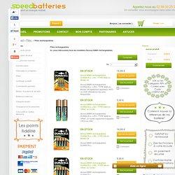 Liste des modèles d'accus NIMH rechargeables - Speed Batteries