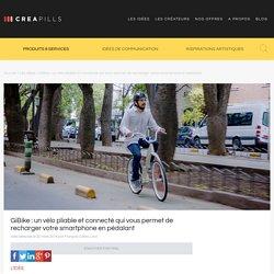 GiBike : un vélo pliable et connecté qui vous permet de recharger votre smartphone en pédalant