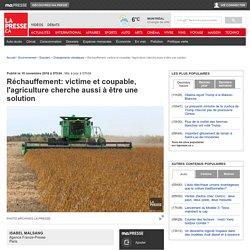 Réchauffement: victime et coupable, l'agriculture cherche aussi à être une solution