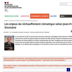 Les enjeux du réchauffement climatique selon Jean-François Soussana