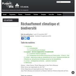 Réchauffement climatique et biodiversité