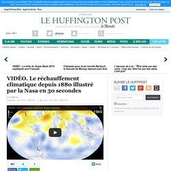 Le réchauffement climatique depuis 1880 illustré par la Nasa en 30 secondes