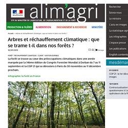 MAAF 10/09/15 Arbres et réchauffement climatique : que se trame t-il dans nos forêts ?