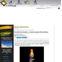 Réchauffement climatique : un kairnaute répond à Werner Munter