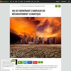 Un GIF montrant l'ampleur du réchauffement climatique