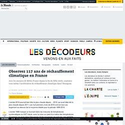 Observez 117ans de réchauffement climatique en France