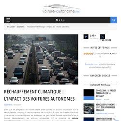 Réchauffement climatique : l'impact des voitures autonomes