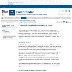 Impact des activités humaines sur le réchauffement climatique - Météo-France