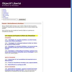 Objectif Liberté: Dossier : Réchauffement climatique