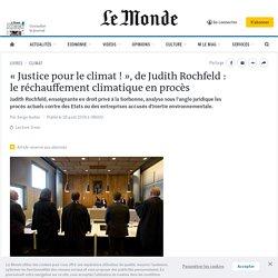 «Justice pour le climat!», de Judith Rochfeld: le réchauffement climatique en procès