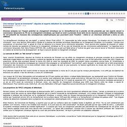 """PARLEMENT EUROPEEN 11/09/07 Une menace """"grave et imminente"""": débat sur le réchauffement climatique au PE"""