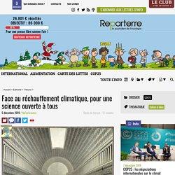 Face au réchauffement climatique, pour une science ouverte à tous