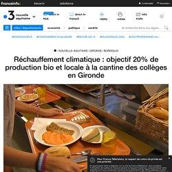 FRANCE 3 NOUVELLE AQUITAINE 20/09/18 Villenave d'Ornon (Gironde) : bientôt 20% de produits bio à la cantine du collège Chambéry