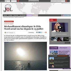 Réchauffement climatique: le Pôle Nord est un lac depuis le 13 juillet