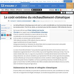Le coût extrême du réchauffement climatique