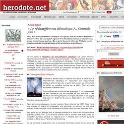 Hérodeote Août 2006 : Le réchauffement climatique