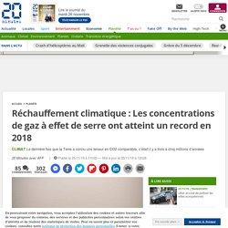 Réchauffement climatique : Les concentrations de gaz à effet de serre ont atteint un record en 2018
