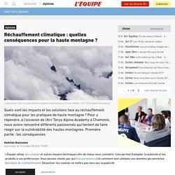 Réchauffement climatique: quelles conséquences pour la haute montagne? - Alpinisme