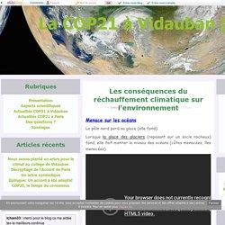 Les conséquences du réchauffement climatique sur l'environnement - La COP21 à Vidauban (83)