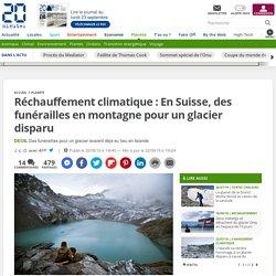 Réchauffement climatique : En Suisse, des funérailles en montagne pour un glacier disparu