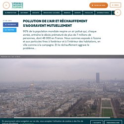 Pollution de l'air et réchauffement s'aggravent mutuellement