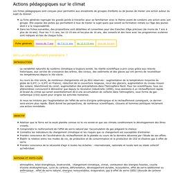 Fiches pédagogiques du cycle 1 au lycée [Fondation Nicolas Hulot]