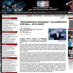 """""""Réchauffement climatique"""" : les prédictions d'Al Gore… et la réalité"""