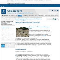 Réchauffement climatique et sécheresses - Météo-France