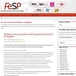 Rechazo a las acusaciones de la portavoz de Israel en España