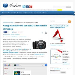 Google améliore (à son tour) la recherche d'images