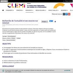Recherche de l'actualité et ses sources sur internet- CLEMI