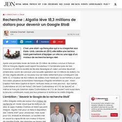Recherche : Algolia lève 18,3 millions de dollars pour devenir un Google BtoB