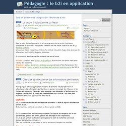 » D4 – Recherche d'info - Pédagogie : le b2i en application