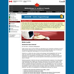 Recherche dans Internet - Boîte à outils - Centre d'apprentissage