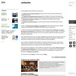 Centre Canadien d'Architecture - Recherche